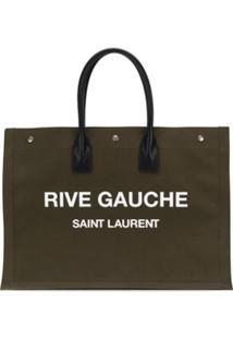 Saint Laurent Bolsa Tote Rive Gauche - Verde