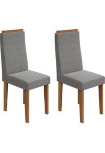 Conjunto Com 2 Cadeiras Dafne Rovere E Cinza