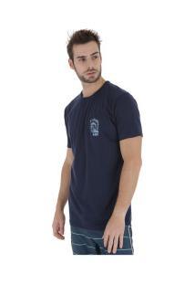 Camiseta Longline Hd Estampada Minimal - Masculina - Azul