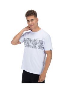 Camiseta O'Neill Estampada Floral Stripe - Masculina - Branco