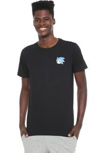Camiseta Tectoy Sonic The Hedgehog Classic Face Preta