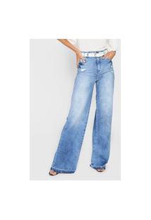 Calça Jeans Colcci Pantalona Azul
