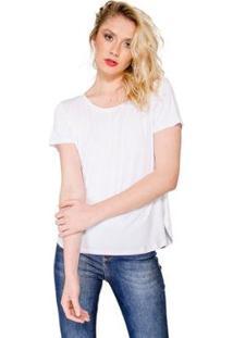 Blusa T- Shirt Básica Lucidez - Feminino-Branco