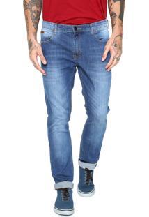 Calça Jeans Quiksilver Avalon Mediun Azul