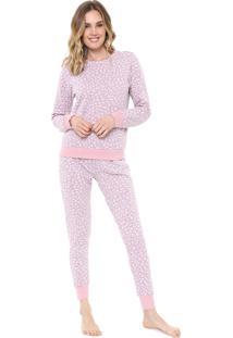 Pijama Malwee Liberta Onça Rosa