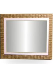 Espelho E Moldura De Parede Tamanho 66X51 Cm Com Paspatur