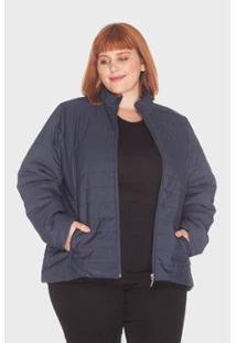 Jaqueta Listra Plus Size Mirasul Feminina - Feminino-Marinho