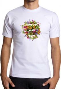 Camiseta Milá Flores Fashion - Masculino