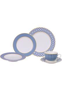 Aparelho De Jantar Noblesse Geometric Porcelana 30 Peças - 30097