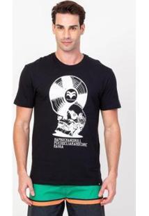 Camiseta Vinyl Vonpiper Crew Masculina - Masculino-Preto