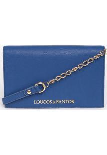 Bolsa Transversal Com Tag - Azul - 12X21X6,5Cmloucos E Santos