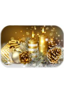 Tapete Decorativo Lar Doce Lar Natal 40Cm X 60Cm Amarelo