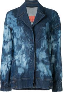 Manning Cartell Jaqueta Jeans Tie Dye - Azul