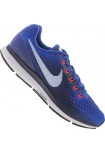 Tênis Nike Air Zoom Pegasus 34 - Masculino - Azul/Azul Esc