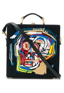 Olympia Le-Tan Basquiat Face Embroidered Tote Bag - Preto