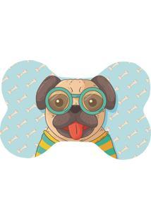 Tapete Love Decor Wevans Pet Pug Happy Azul