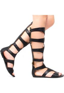 Sandália Zariff Shoes Gladiadora Preto
