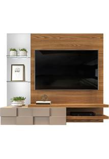 Painel Home Suspenso Para Tv Até 55 Pol. Com Espelho Lago Carvalho Eur