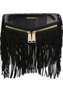 Dsquared2 Clutch De Couro 'Rock' - Preto