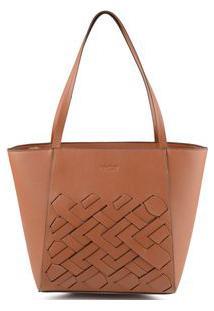 Bolsa Shopping Bag Tressê Tan - Tan/Un