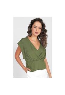 Blusa Colcci Transpassada Verde