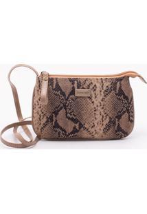 Bolsa Shoulder Bag Snake Areia - P