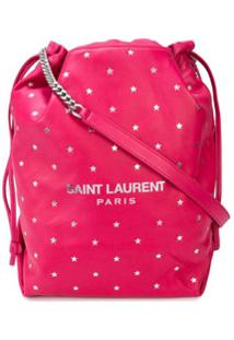 Saint Laurent Bolsa Saco Com Padronagem De Ursinho E Estrela - Rosa