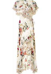 Camilla Vestido Assimétrico De Seda - Branco