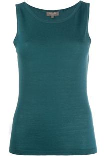 N.Peal Cashmere Sleeveless Top - Verde