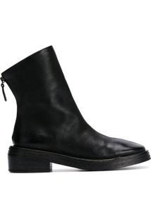 Marsèll Ankle Boot Com Zíper Posterior - Preto