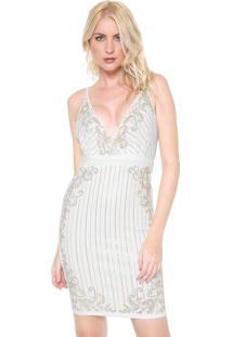 Vestido Lanã§A Perfume Curto Transpassado Branco - Branco - Feminino - Poliã©Ster - Dafiti