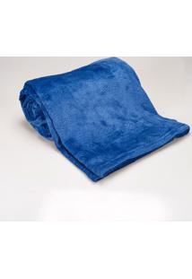 Cobertor Queen 2,20X2,40M Patrícia Foster Indigo