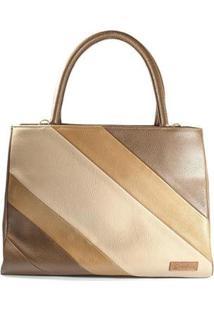 Bolsa Deodora Store Handbag Alça Removível Feminina - Feminino-Marrom