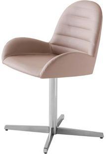 Cadeira Arm Assento Estofado Dunas Fendi Com Base Aranha Em Aluminio - 46908 - Sun House