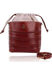 Bolsa Campezzo Bucket Bag Cinza Marrom