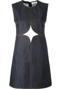 Courrèges Vestido Jeans Com Recorte Vazado - Azul