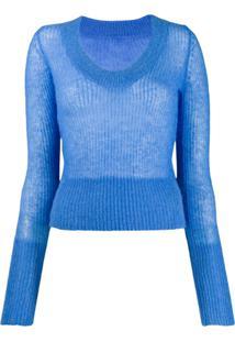 Jacquemus Suéter De Tricô La Maille Dao - Azul