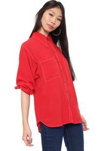 Camisa Colcci Bolsos Vermelha
