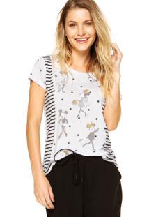 ... Blusa Cativa Disney Minnie Fashion Branca 24900a032b3