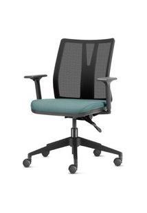 Cadeira Addit Assento Crepe Verde Agua Com Base Piramidal Em Nylon - 54112 Verde