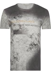 Camiseta Masculina New Adventures - Cinza E Preto