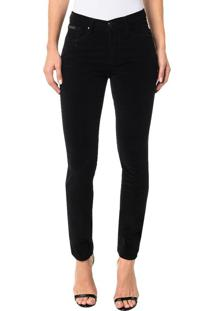 Calça Color Calvin Klein Jeans Five Pockets Jegging High Preto - 34