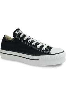 Tênis Converse Chuck Taylor All Star Platform Ox - Feminino-Preto+Branco