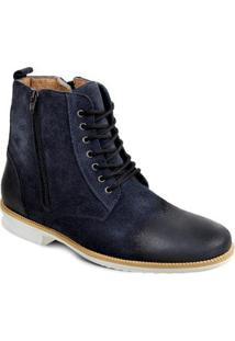 Bota Camurça Sandro & Co. Dress Boot Masculino - Masculino-Marinho