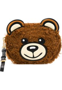 Moschino Teddy Bear Clutch - Marrom
