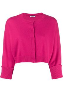 P.A.R.O.S.H. Flared Sleeve Cardigan - Rosa