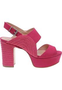 Kim Sandália Curve Block Heel Bright Rose   Schutz