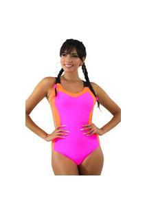 Body Neon Com Alcinha Rosa Neon