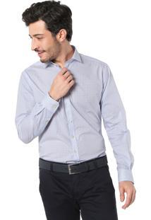 392cba766c ... Camisa Dudalina Slim Geométrica Branca Azul