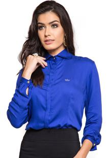 26377798ea ... Seda Principessa Adele Off White. Ir para a loja  -32% Camisa Feminina  Azul Bic Principessa Maria Luiza